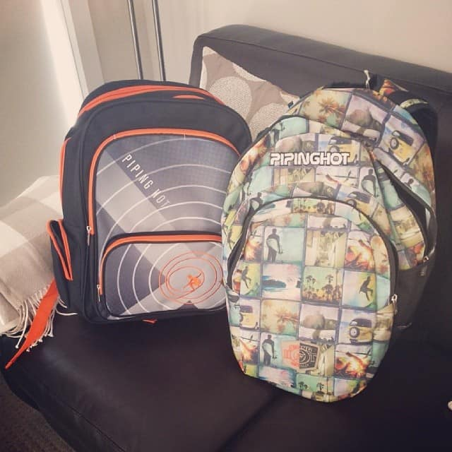 Piping hot school bags