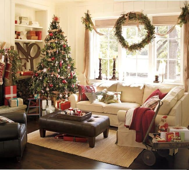 christmas tree in a small living room a guide to make your home look festive yet stylish 27465